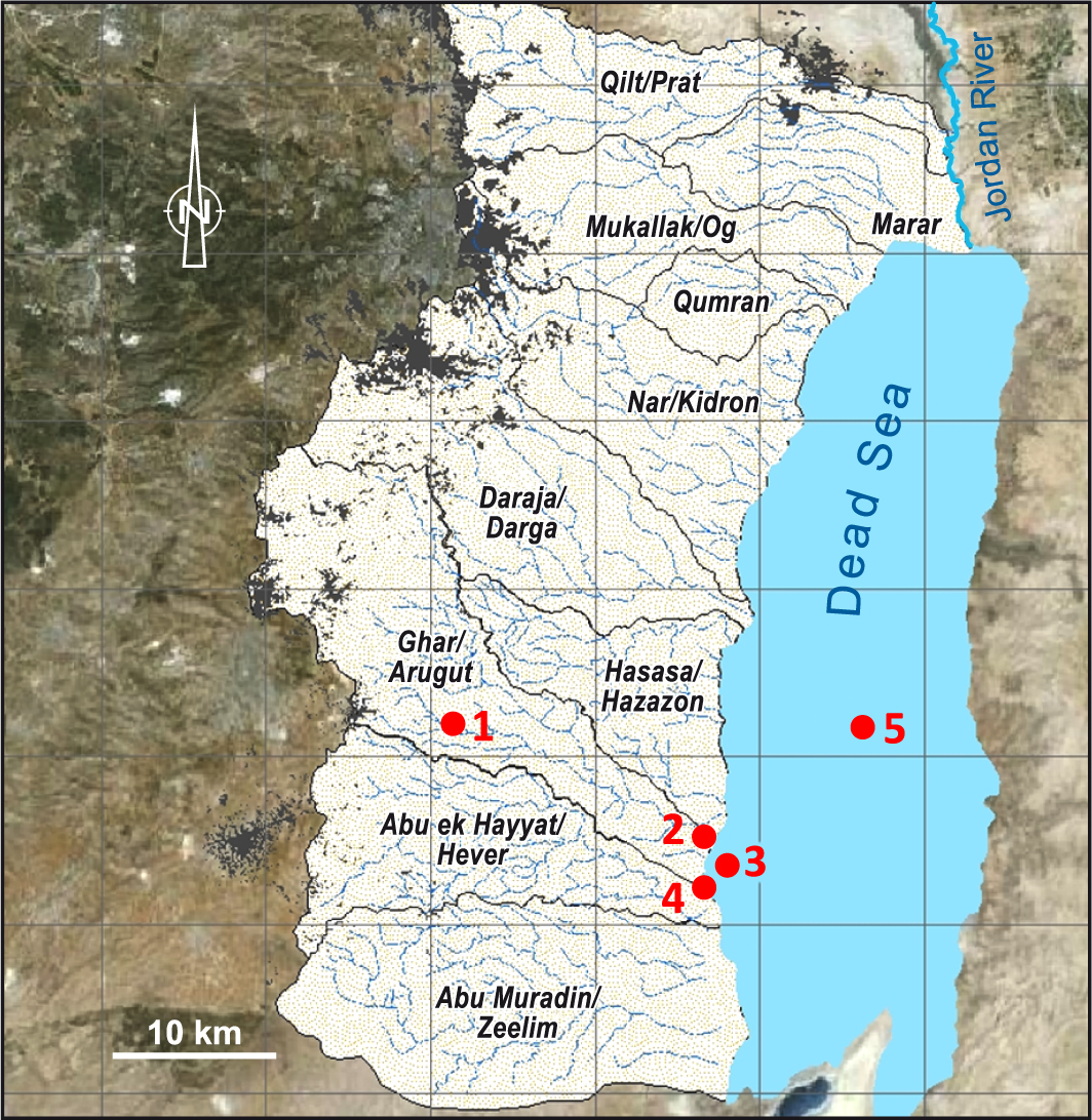 Middle East Map Dead Sea.Palex Paleoclimate Research In The Middle East